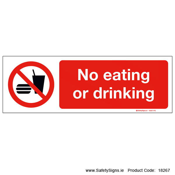 No Eating or Drinking - 18267