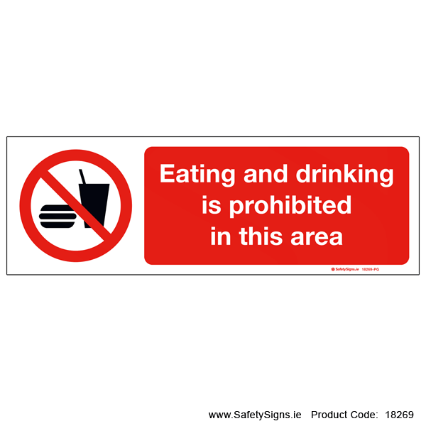 Eating and Drinking Prohibited - 18269