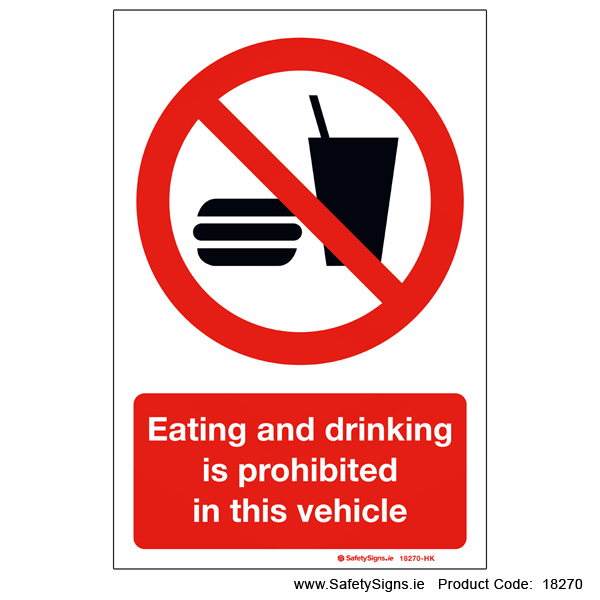 Eating and Drinking Prohibited - 18270