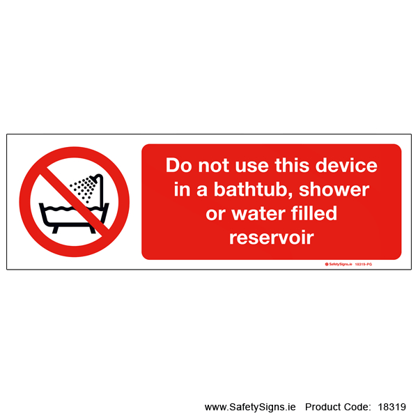 Do not Use Device near Water - 18319