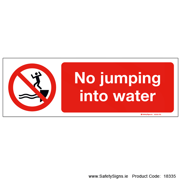 No Jumping into Water - 18335