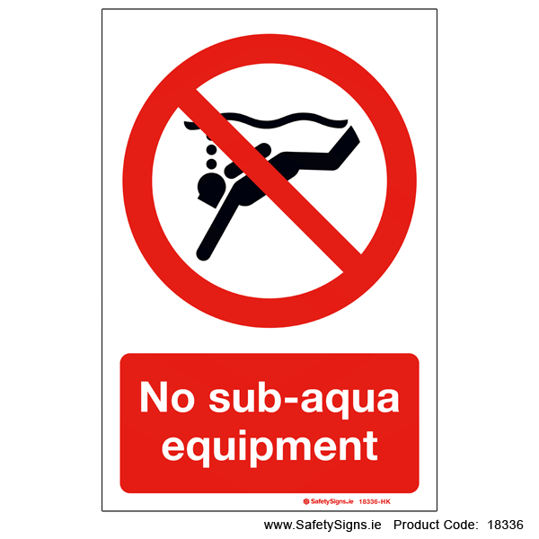 No Sub-aqua Equipment - 18336