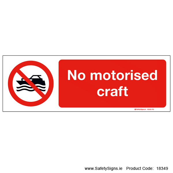 No Motorised Craft - 18349