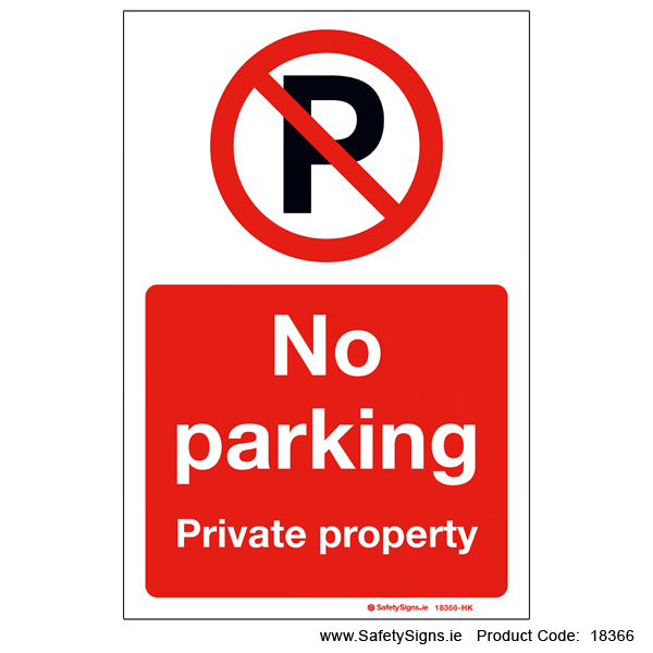 No Parking Private Property - 18366