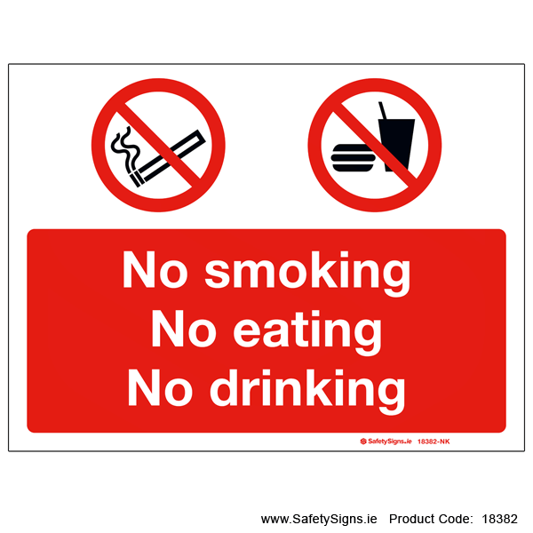 No Smoking No Eating - 18382