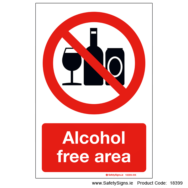Alcohol Free Area - 18399