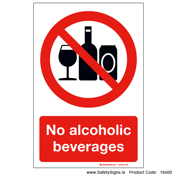 No Alcoholic Beverages - 18400