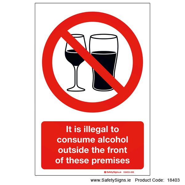 Illegal to Consume Alcohol - 18403