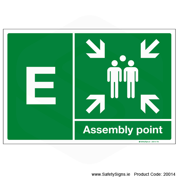 Fire Assembly Point SG302 - Letters A to E