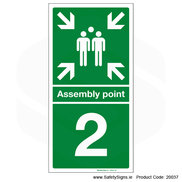 Fire Assembly Point SG303 - Numbers 1 to 5
