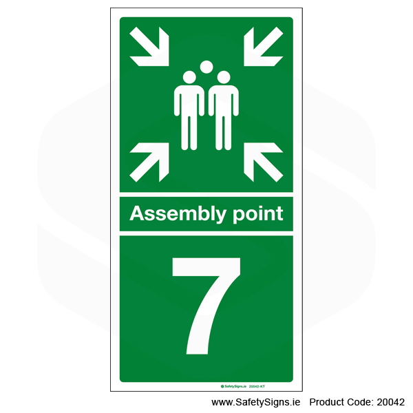 Fire Assembly Point SG303 - Numbers 6 to 9