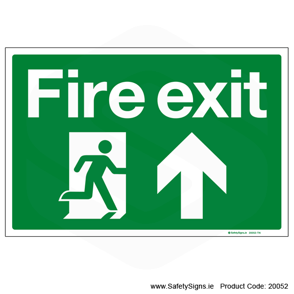 Fire Exit SG101 Arrow Up - 20052