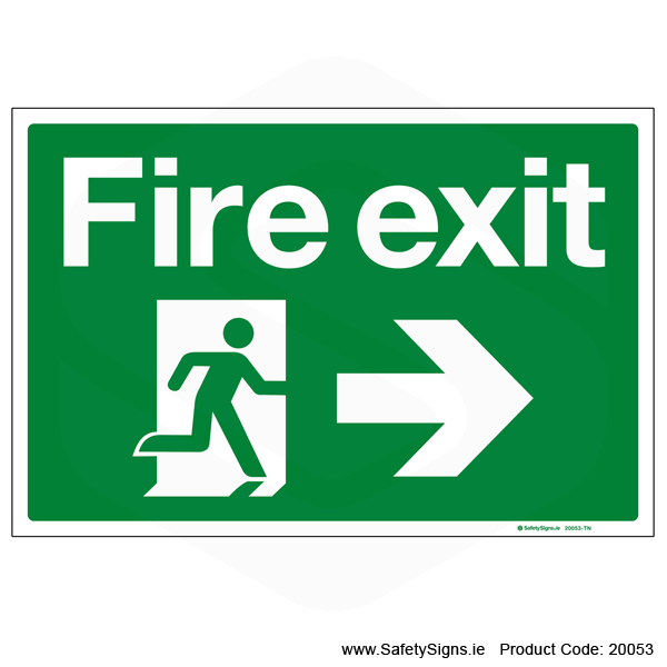 Fire Exit SG101 Arrow Right - 20053