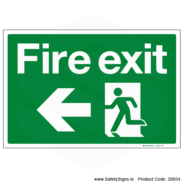 Fire Exit SG101 Arrow Left - 20054