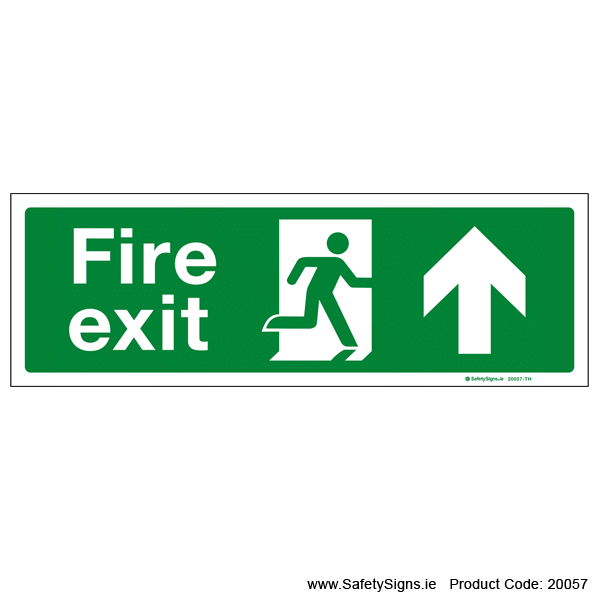Fire Exit SG102 Arrow Up - 20057
