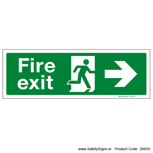 Fire Exit SG102 Arrow Right - 20059