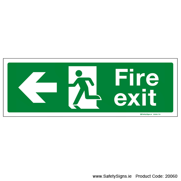 Fire Exit SG102 Arrow Left - 20060