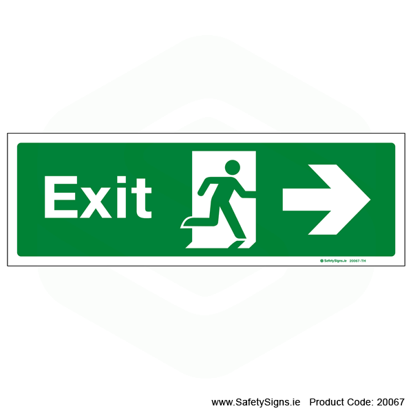 Exit SG103 Arrow Right - 20067