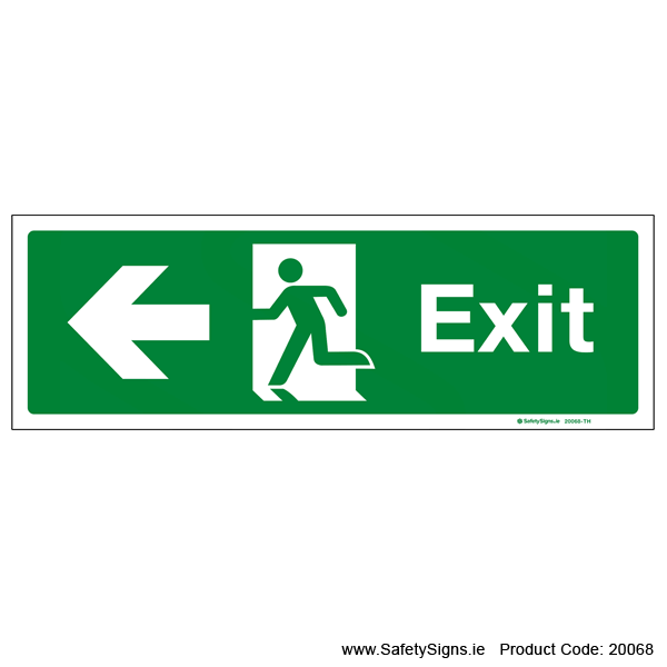 Exit SG103 Arrow Left - 20068