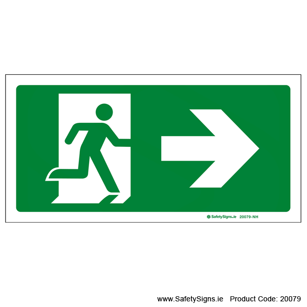 Emergency Exit SG106 Arrow Right - 20079