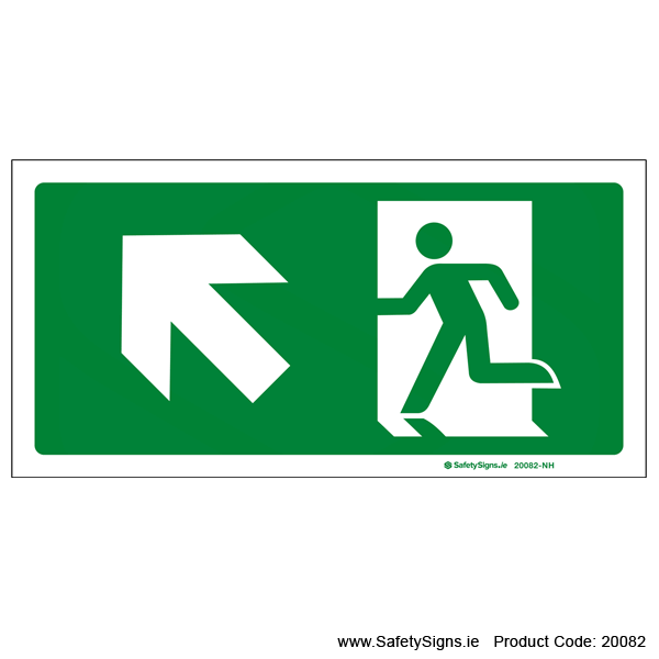 Emergency Exit SG106 Arrow Up Left - 20082