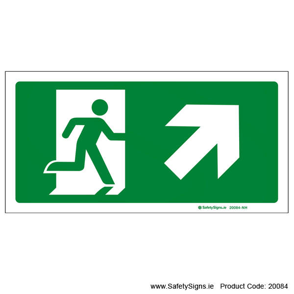 Emergency Exit SG106 Arrow Up Right - 20084