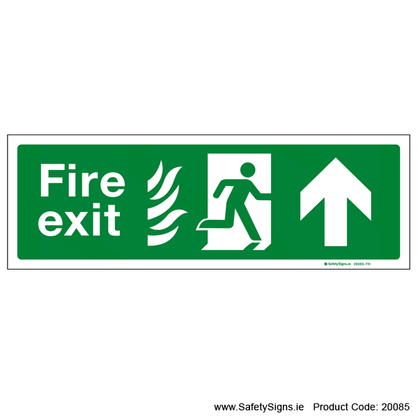 Fire Exit SG104 Arrow Up - 20085