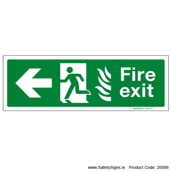 Fire Exit SG104 Arrow Left - 20088