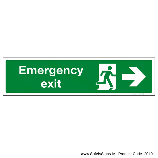 Emergency Exit SG108 Arrow Right - 20101