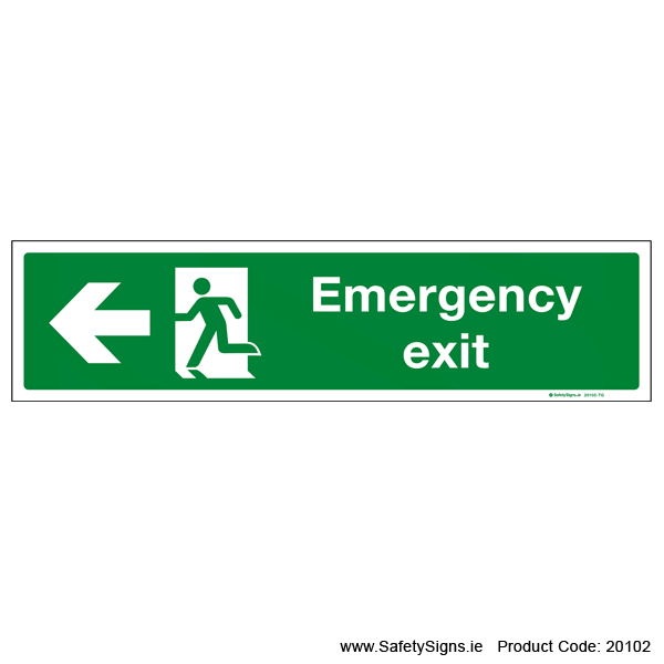 Emergency Exit SG108 Arrow Left - 20102