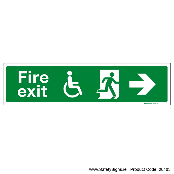 Fire Exit SG109 Arrow Right - 20103