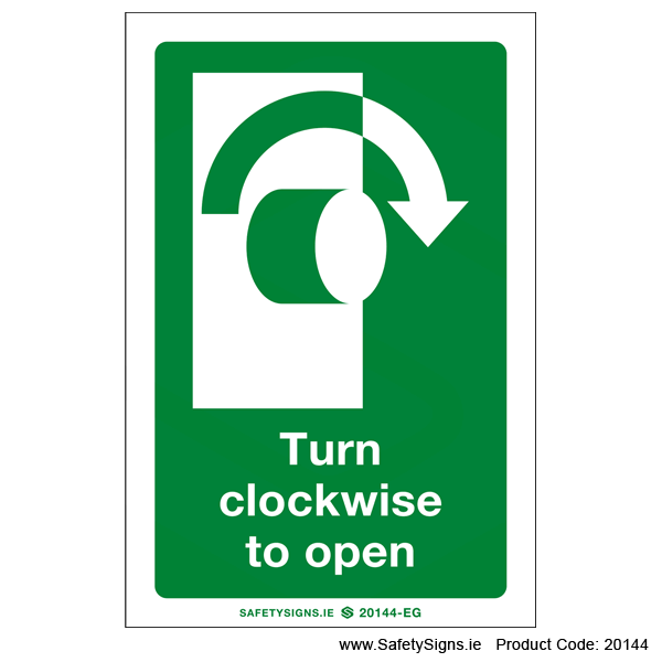 Turn Clockwise to Open - 20144