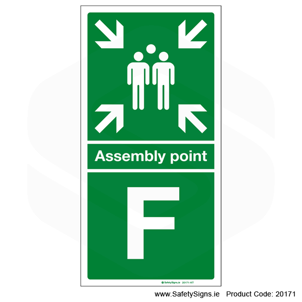 Fire Assembly Point SG304 - Letters F to J
