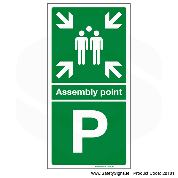 Fire Assembly Point SG304 - Letters P to T
