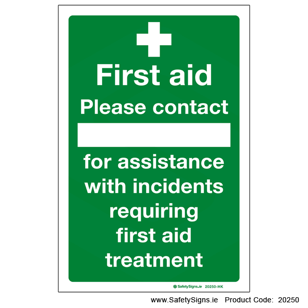 First Aid Contact - 20250