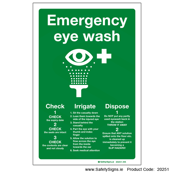 Emergency Eye Wash - 20251