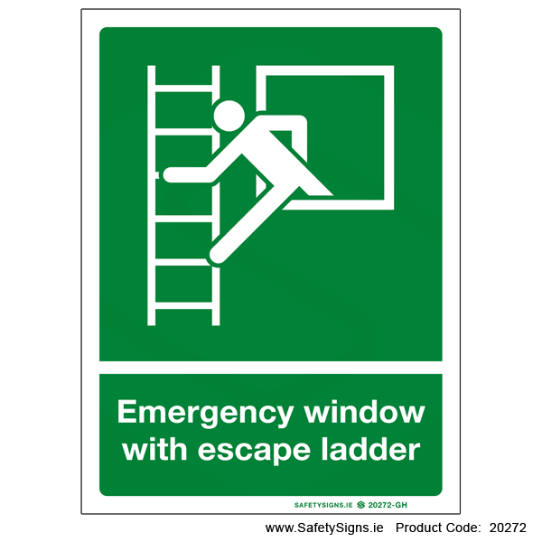 Emergency Window with Escape Ladder - 20272