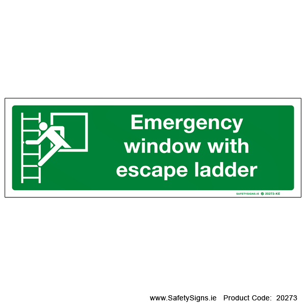 Emergency Window with Escape Ladder - 20273