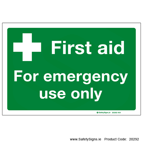 First Aid for Emergency Use Only - 20292
