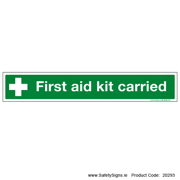 First Aid Kit Carried - 20293
