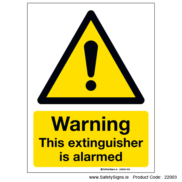 This Extinguisher is Alarmed - 22003