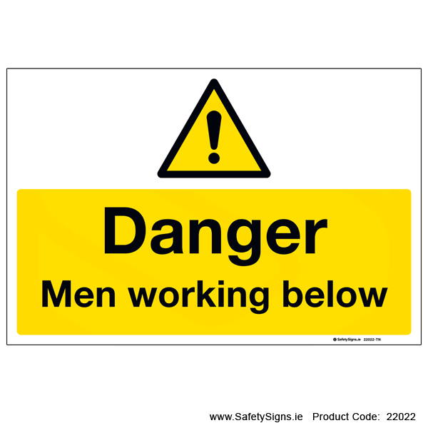 Men Working Below - 22022