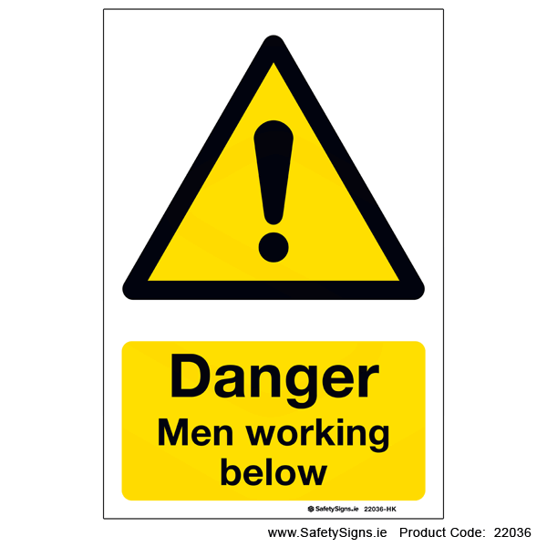 Men Working Below - 22036