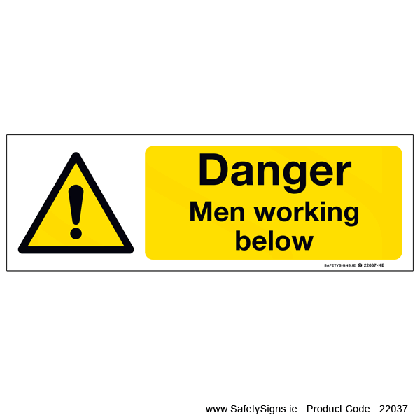 Men Working Below - 22037