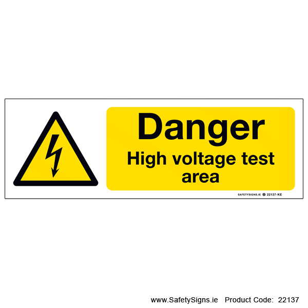 High Voltage Test Area - 22137