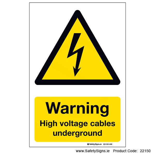 High Voltage Cables Underground - 22150