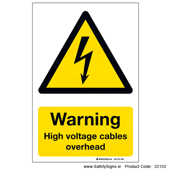 High Voltage Cables Overhead - 22152