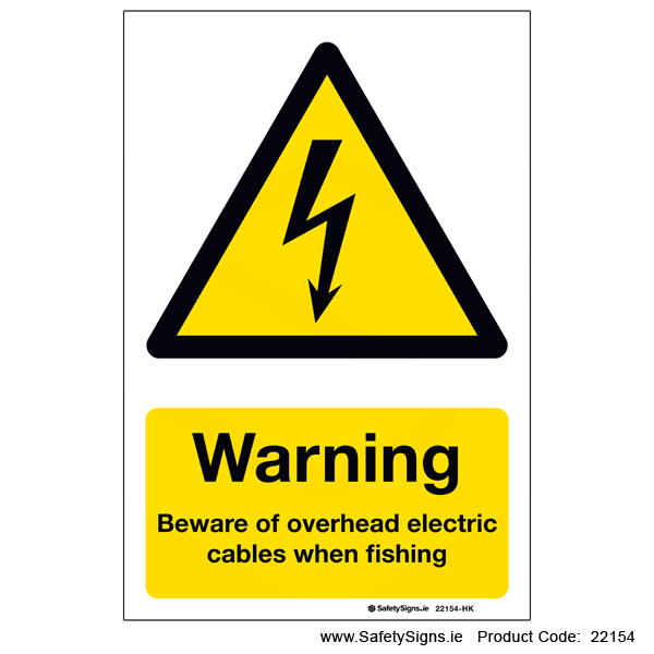 Beware Overhead Cables when Fishing - 22154