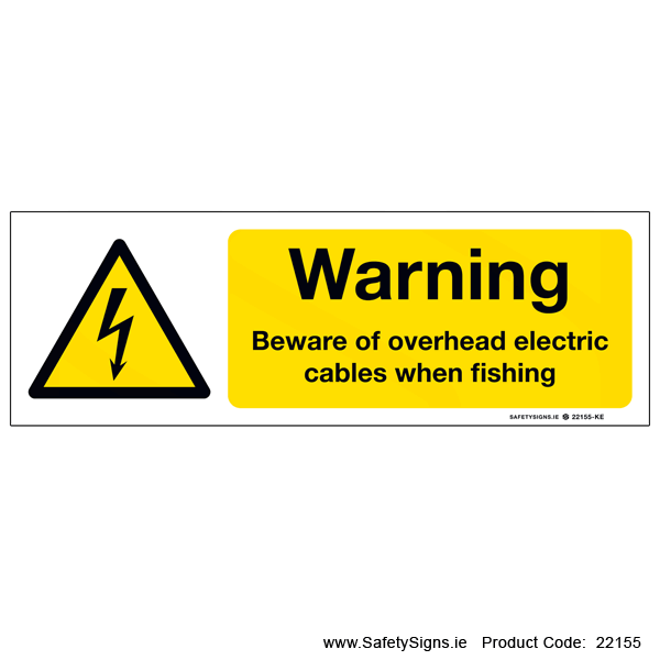 Beware Overhead Cables when Fishing   - 22155