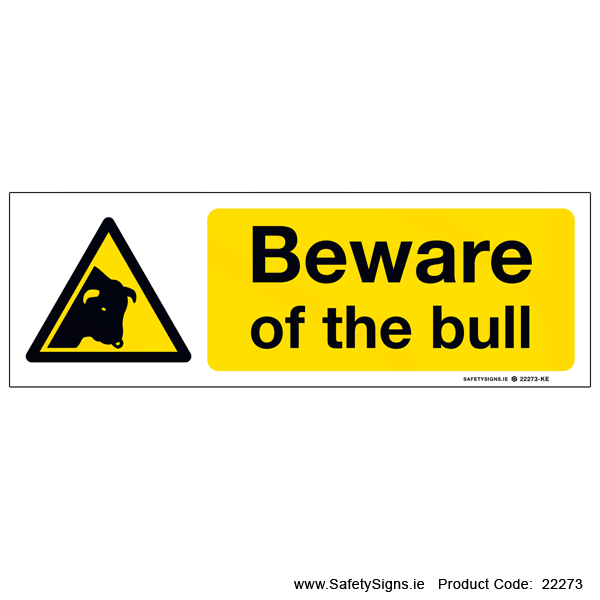 Beware of the Bull - 22273
